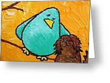 Limb Birds - Bird Dog Greeting Card by Linda Eversole