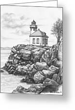 Lime Kiln Lighthouse Greeting Card by Kim Lockman