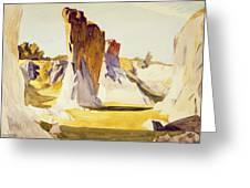 Lime Rock Quarry II Greeting Card by Edward Hopper