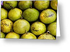 Limes Greeting Card by Jean Noren