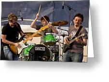 Lincoln Brewster And Band Greeting Card by Bill Gallagher