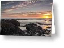 Lincoln City Beach Sunset - Oregon Coast Greeting Card by Brian Harig