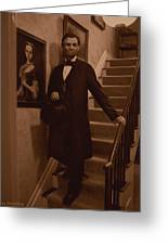 Lincoln Descending Staircase Greeting Card by Ray Downing