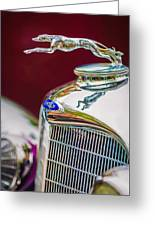 Lincoln Hood Ornament - Grille Emblem -1187c Greeting Card by Jill Reger