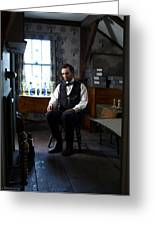 Lincoln In The Attic 2 Greeting Card by Ray Downing