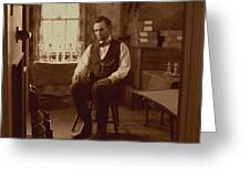 Lincoln in the Attic Greeting Card by Ray Downing