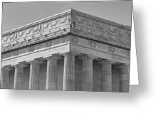 Lincoln Memorial Columns BW Greeting Card by Susan Candelario