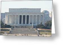 Lincoln Memorial - Washington DC - 01131 Greeting Card by DC Photographer