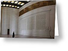 Lincoln Memorial - Washington DC - 01132 Greeting Card by DC Photographer