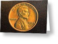 Lincoln Portrait #18 Greeting Card by Daniel W Green