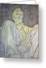 Lincoln Greeting Card by Regan J Smith