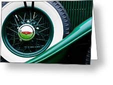 Lincoln Spare Tire Emblem Greeting Card by Jill Reger