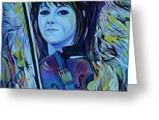 Lindsey Stirling Greeting Card by Anna  Duyunova