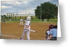 Line Drive Greeting Card by Lne Kirkes