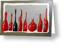 Line Of Wine Greeting Card by Phiddy Webb