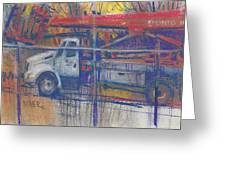 Line Truck Greeting Card by Donald Maier