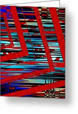 Lines And Design Greeting Card by Mario Perez