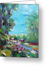 Linfield Street Fairfax Virginia Greeting Card by Becky Kim