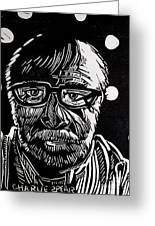 Lino Cut Charlie Spear Greeting Card by Charlie Spear