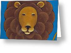 Lion Greeting Card by Christy Beckwith