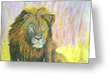 Lion Greeting Card by Dylan Williams