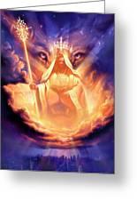 Lion Of Judah Greeting Card by Jeff Haynie