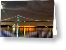 Lions Gate Bridge in Colour Greeting Card by Naman Imagery