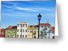 Lisbon Houses Greeting Card by Carlos Caetano