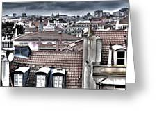 Lisbon Rooftops I Greeting Card by Marco Oliveira