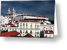 Lisbon X Greeting Card by John Rizzuto