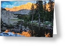 Little Bear Peak And Lake Como Greeting Card by Aaron Spong
