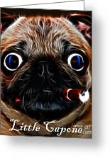 Little Capone - C28169 - Electric Art - With Text Greeting Card by Wingsdomain Art and Photography
