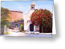 Little Chapel France Greeting Card by Cindy Plutnicki