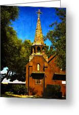 Little Church Of The West Greeting Card by Julie Palencia