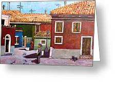 Little Corner Of Venice Greeting Card by Caroline Street