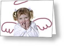 Little Girl Angel Greeting Card by Lane Erickson
