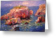 Little Greek Church On Thera Greeting Card by R W Goetting