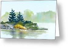 Little Pine Point Greeting Card by Joan A Hamilton