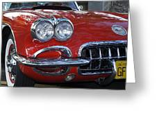 Little Red Corvette Greeting Card by Bill Gallagher