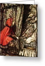 Little Red Riding Hood Greeting Card by Arthur Rackham