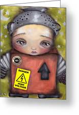 Little Robot Greeting Card by  Abril Andrade Griffith