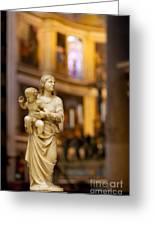 Little Statue Greeting Card by Brian Jannsen