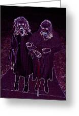 Little Vampires Greeting Card by First Star Art