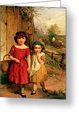 Little Villagers Greeting Card by George Smith