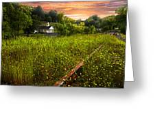 Little White Church Greeting Card by Debra and Dave Vanderlaan