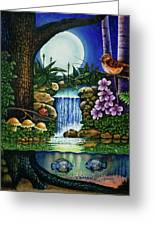 Little World Chapter Full Moon Greeting Card by Michael Frank