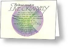 Live Creatively Greeting Card by Sally Penley