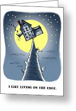 Living On The Edge Greeting Card by Mark Armstrong