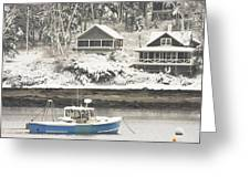 Lobster Boat After Snowstorm in Tenants Harbor Maine Greeting Card by Keith Webber Jr
