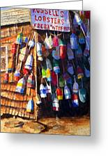Lobster Shack Greeting Card by Suzy Pal Powell